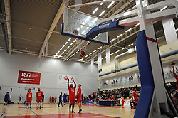 Players warm up - Photo mandatory by-line: Dougie Allward/JMP - Mobile: 07966 386802 - 18/10/2014 - SPORT - Basketball - Bristol - SGS Wise Campus - Bristol Flyers v Durham Wildcats - British Basketball League