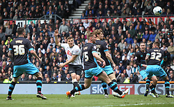 Chris Martin of Derby County (C) has a shot at goal - Mandatory by-line: Jack Phillips/JMP - 23/04/2016 - FOOTBALL - iPro Stadium - Derby, England - Derby County v Sheffield Wednesday - Sky Bet Championship