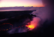 Pu'u O'o crater, Kilauea Volcano, Hawaii Volcanoes National Park, Island of Hawaii, Hawaii, USA<br />