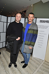 Left to right, NICHOLAS KIRKWOOD and JONATHAN SAUNDERS at the Designer Fashion Fund Award hosted by The British Fashion Council and Vogue at Nobu Berkeley, 15 Berkeley Street, London on 29th January 2013.