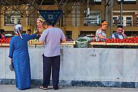 Ouzbékistan, Samarcande, classé Patrimoine Mondial de l'UNESCO, Siab bazar // Uzbekistan, Samarkand, Unesco World Heritage, Siab bazaar