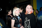 francesca burns; bella howard,  Prada Congo Art Party hosted by Miuccia Pada and Larry Gagosian. The Double Club,  Torrens St. London EC1. The Double Club is A Carsten Holler project by Fondazione Prada. 10 February 2009. *** Local Caption *** -DO NOT ARCHIVE-© Copyright Photograph by Dafydd Jones. 248 Clapham Rd. London SW9 0PZ. Tel 0207 820 0771. www.dafjones.com.<br /> francesca burns; bella howard,  Prada Congo Art Party hosted by Miuccia Pada and Larry Gagosian. The Double Club,  Torrens St. London EC1. The Double Club is A Carsten Holler project by Fondazione Prada. 10 February 2009.