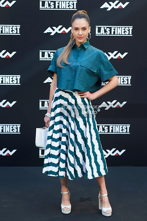 Jessica Alba attends 'L.A.'s Finest' AXN TV Series photocall at Villamagna Hotel on June 10, 2019 in Madrid, Spain