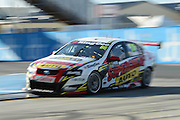 Supercheap Auto Racing's Russel Ingall in action during  Race 5 of the ITM 400 Hamilton,Hamilton Street Circuit, Day Two, Hamilton City ,V8 supercars,, Photo: Dion Mellow / photosport.co.nz