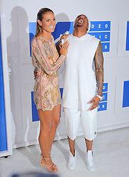 Heidi Klum and Nick Cannon at The 2016 MTV Video Music Awards.<br />