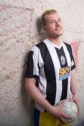 Portrait of football player Miran Brejc, on April 30, 2010, in Ljubljana, Slovenia.  (Photo by Vid Ponikvar / Sportida)