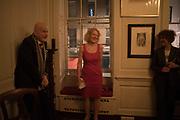 NAIM ATTALAH; SALLY EMERSON; , The launch of Fire Child by Sally Emerson. Hosted by Sally Emerson and Naim Attalah CBE. Dean St. London. 22 March 2017