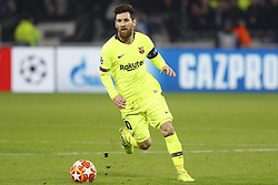 February 20, 2019 - Lyon, France - Lionel Messi looks on during the UEFA Champions League round of 16 first leg football match between Lyon (OL) and FC Barcelona on February 19, 2019, at the Groupama Stadium in Decines-Charpieu, central-eastern France. (Credit Image: © Mehdi Taamallah/NurPhoto via ZUMA Press)