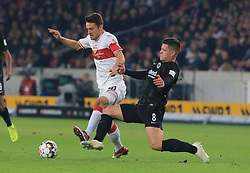 02.11.2018, 1. BL, VfB Stuttgart vs Eintracht Frankfurt, Mercedes Benz Arena Stuttgart, Fussball, Sport, im Bild:...Christian Gentner (VFB Stuttgart) vs Luka Jovic (Eintracht Frankfurt)..DFL REGULATIONS PROHIBIT ANY USE OF PHOTOGRAPHS AS IMAGE SEQUENCES AND / OR QUASI VIDEO...Copyright: Philippe Ruiz..Tel: 089 745 82 22.Handy: 0177 29 39 408.e-Mail: philippe_ruiz@gmx.de. (Credit Image: © Philippe Ruiz/Xinhua via ZUMA Wire)