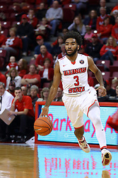 26 November 2016:  Keyshawn Evans(3) during an NCAA  mens basketball game between the Ferris State Bulldogs the Illinois State Redbirds in a non-conference game at Redbird Arena, Normal IL