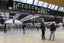 Interior of new Queen Street railway station after redevelopment in Glasgow, Scotland, UK
