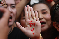 July 21, 2017 - Thailand - Supporters  for Yingluck Shinawatra, Former Thai Prime Minister at the Supreme Court in Bangkok during a final court hearing expected in the negligence trial of ousted Yingluck, who faces up to a decade in jail in a case lambasted by her supporters as politically motivated (Credit Image: © Vichan Poti/Pacific Press via ZUMA Wire)