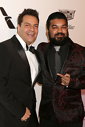 February 24, 2019 - West Hollywood, CA, USA - LOS ANGELES - FEB 24:  Craig DiFrancia, Adrian Dev at the Elton John Oscar Viewing Party on the West Hollywood Park on February 24, 2019 in West Hollywood, CA (Credit Image: © Kay Blake/ZUMA Wire)