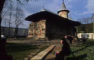 Romania. orthodox monastery painted  Voronet       / monastere peint (orthodoxe)  Voronet  Roumanie monastere de femmes