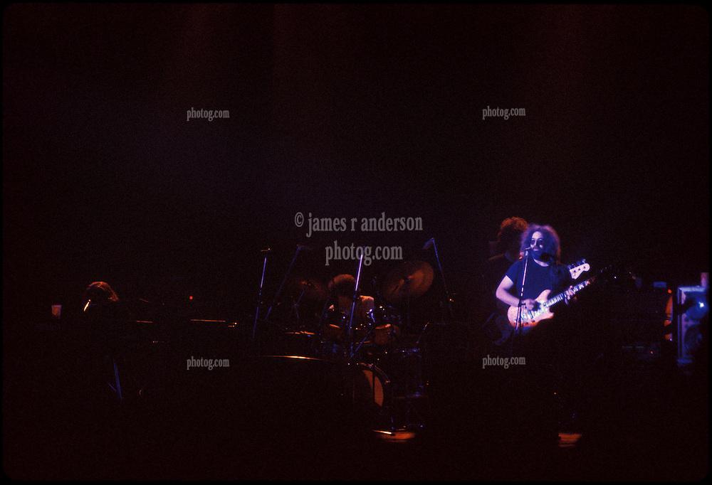 Jerry Garcia Band at the Capitol Theater, Passaic  NJ 11-26-77. From an original Kodak Ektachrome Professional Tungsten Film Slide, EPT160.