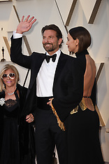 Bradley Copper with his Ladies at Oscars Red Carpet - 24 Feb 2019