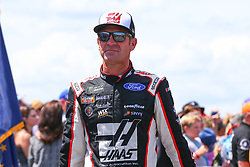 July 29, 2018 - Long Pond, PA, U.S. - LONG POND, PA - JULY 28:   Monster Energy NASCAR Cup Series driver Clint Bowyer Haas 30 Years of the VF1 Ford (14) during driver introductions prior to the Monster Energy NASCAR Cup Series - 45th Annual Gander Outdoors 400 on July 29, 2018 at Pocono Raceway in Long Pond, PA. (Photo by Rich Graessle/Icon Sportswire) (Credit Image: © Rich Graessle/Icon SMI via ZUMA Press)