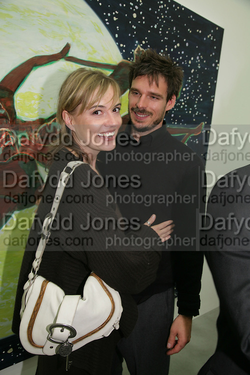 KATIE FITCH AND  JAMIE WRIGHT, ( SON OF PINK FLOYD'S RICHARD WRIGHT)  private view  of new exhibition by Tim Stoner , Alison Jacques Gallery in new premises in Berners St., London, W1 ,Afterwards across the rd. at the Sanderson Hotel. 3 May 2007. DO NOT ARCHIVE-© Copyright Photograph by Dafydd Jones. 248 Clapham Rd. London SW9 0PZ. Tel 0207 820 0771. www.dafjones.com.