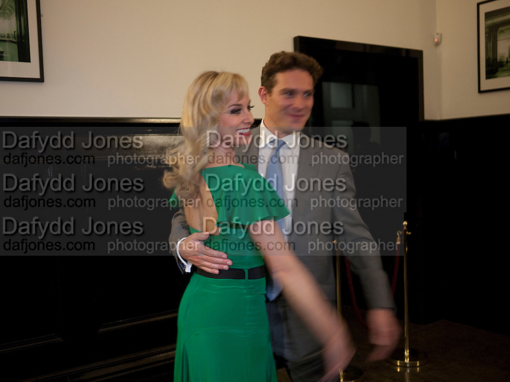 TAMZIN OUTHWAITE; MARK UMBERS, PARTY AFTER THE OPENING OF SWEET CHARITY.  National Portrait Gallery cafe. London. 4 May 2010.  *** Local Caption *** -DO NOT ARCHIVE-© Copyright Photograph by Dafydd Jones. 248 Clapham Rd. London SW9 0PZ. Tel 0207 820 0771. www.dafjones.com.<br /> TAMZIN OUTHWAITE; MARK UMBERS, PARTY AFTER THE OPENING OF SWEET CHARITY.  National Portrait Gallery cafe. London. 4 May 2010.