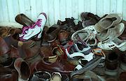 Shoes outside a temple - Ley Ladakh 2006