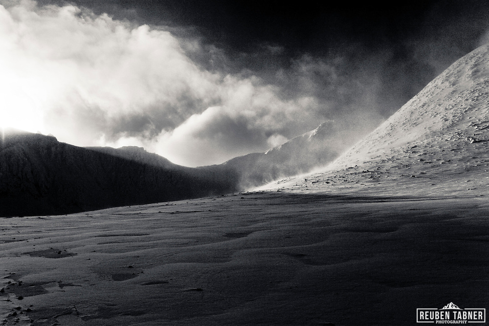 The imposing face of the Northern Corries on Cairngorm in Scotland.