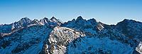 Panoramic view of high Tatra mountains from near Zawrat pass, Poland
