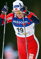 Langrenn, 12. desember 2003, Verdenscup herrer 15 kilometer klassisk, Davos,<br /> Vibeke Skofterud  (NOR) ,<br /> Foto: Andy Mueller/Digitalsport