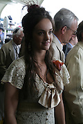 Calypso Lawrence. Glorious Goodwood. 2 August 2007.  -DO NOT ARCHIVE-© Copyright Photograph by Dafydd Jones. 248 Clapham Rd. London SW9 0PZ. Tel 0207 820 0771. www.dafjones.com.
