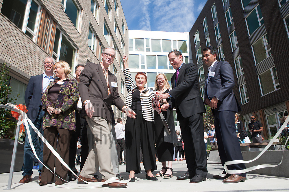 Bridge Housing opens the Abigail, affordable housing in The Pearl District. Ribbon cutting ceremony on site.