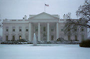 The White House in a snowstorm. Washington, DC. USA.