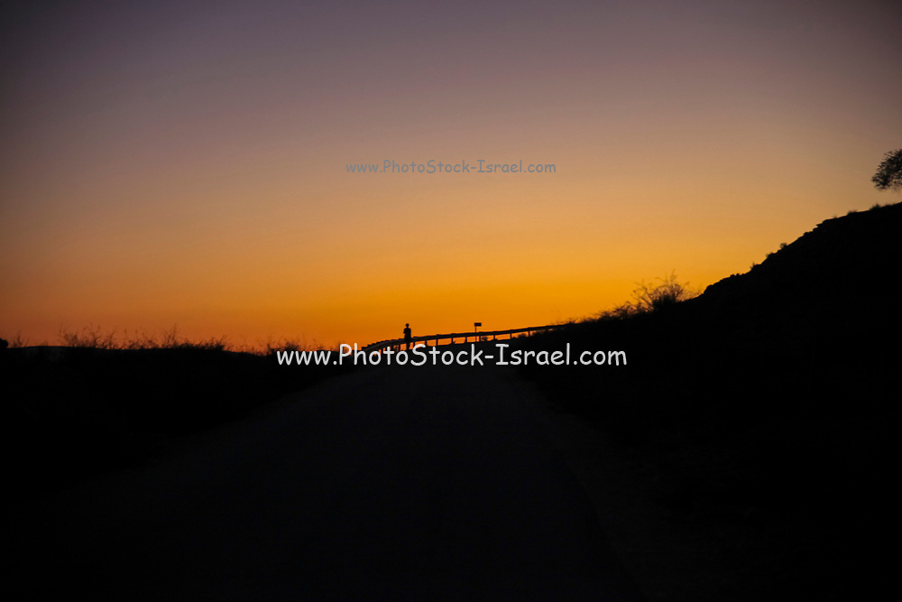 Desert sunset Photographed in Israel, Negev desert
