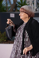 Agnes Varda, with her Palme d'Honneur at the Palm D'Or award winners photo call at the 68th Cannes Film Festival Sunday May 24th 2015, Cannes, France.