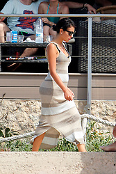 Cristiano Ronaldo has confirmed that girlfriend Georgina Rodriguez is pregnant. The glamorous couple are seen her eon holiday in Formentera with Rodriguez already showing a growing bump on 8 July 2017.<br />