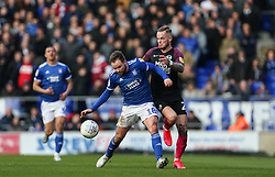 Alan Judge of Ipswich Town attempts to hold off a challenge from Joe Ward of Peterborough United - Mandatory by-line: Arron Gent/JMP - 01/02/2020 - FOOTBALL - Portman Road - Ipswich, England - Ipswich Town v Peterborough United - Sky Bet League One