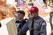 Arthur Jones speaking at the 2016 National Socialist Movement rally in Harrisburg, Pennsylvania.