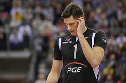 December 16, 2017 - Krakow, Malopolska, Poland - Lisinac Srecko (1) of SKRA Belchatow during the match between Lube Civitanova and SKRA Belchatow during the semi finals of Volleyball Men's Club World Championship 2017 in Tauron Arena. (Credit Image: © Omar Marques/SOPA via ZUMA Wire)