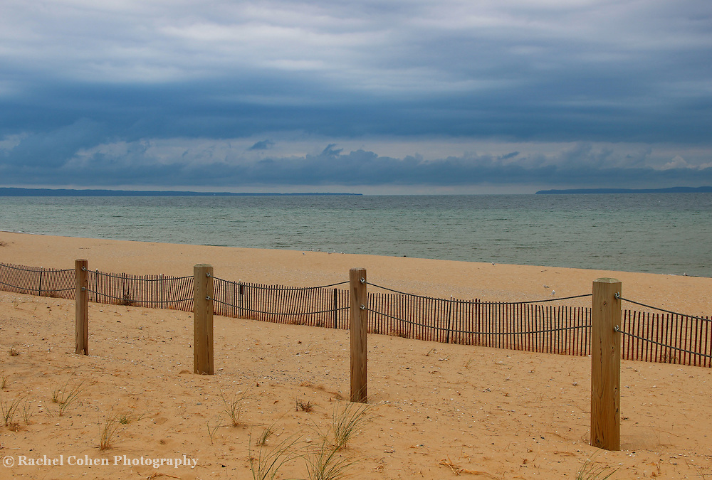 """""""Lines in the Sand""""<br /> <br /> Beautiful calm as a storm approaches Glen Haven on Lake Michigan!<br /> <br /> The Great Lakes by Rachel Cohen"""