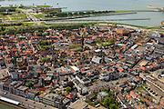 Nederland, Zeeland, Terneuzen, 09-05-2013; Zeeuws-Vlaanderen, centrum van Terneuzen gezien naar Kanaal Terneuzen - Gent.<br /> View on the center Terneuzen (Zeeland) and the entrance to the  Terneuzen - Ghent Canal.<br /> luchtfoto (toeslag op standard tarieven);<br /> aerial photo (additional fee required);<br /> copyright foto/photo Siebe Swart.