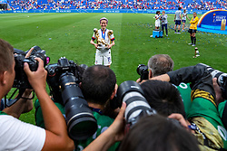 07-07-2019 FRA: Final USA - Netherlands, Lyon<br /> FIFA Women's World Cup France final match between United States of America and Netherlands at Parc Olympique Lyonnais. USA won 2-0 / Megan Rapinoe #15 of the United States and photographers