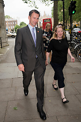 © London News Pictures. 17/07/2012. London, UK.  Secretary of State for Culture, Olympics, Media and Sport, Jeremy Hunt (left) in Westminster on July 17, 212. Photo credit: Ben Cawthra/LNP.