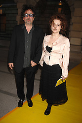 TIM BURTON and HELENA BONHAM-CARTER at the Royal Academy of Arts Summer Exhibition Party at the Royal Academy, Piccadilly, London on 6th June 2007.<br /><br />NON EXCLUSIVE - WORLD RIGHTS