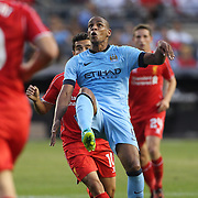 Fernando, Manchester City, in action during the Manchester City Vs Liverpool FC Guinness International Champions Cup match at Yankee Stadium, The Bronx, New York, USA. 30th July 2014. Photo Tim Clayton