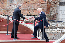 26.05.2017, Taormina, ITA, 43. G7 Gipfel in Taormina, im Bild v.l. Italiens Premierminister Paolo Gentiloni, US Präsident Donald Trump // f.l. Italy's Prime Minister Paolo Gentiloni US President Donald Trump during the 43rd G7 summit in Taormina, Italy on 2017/05/26. EXPA Pictures © 2017, PhotoCredit: EXPA/ Johann Groder