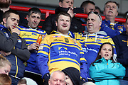 Leeds Rhinos fans during the Betfred Super League match between Hull Kingston Rovers and Leeds Rhinos at the Lightstream Stadium, Hull, United Kingdom on 29 April 2018. Picture by Mick Atkins.