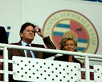 Photo: Ed Godden.<br />Reading v Feyenoord. Pre Season Friendly. 12/08/2006. <br />Reading Chairman John Madejski watches from the stands.