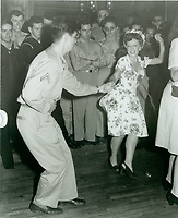 1944 Fay McKenzie dancing at the Hollywood Canteen