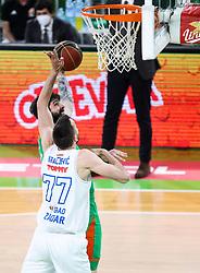Ziga Dimec of Cedevita Olimpija during basketball match between KK Cedevita Olimpija (SLO) and KK Zadar (CRO) in Round #22 of ABA League 2020/21, on January 30, 2021 in Arena Stozice, Ljubljana, Slovenia.  Photo by Vid Ponikvar / Sportida