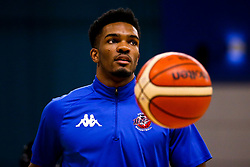 Marcus Delpeche of Bristol Flyers warms up - Photo mandatory by-line: Robbie Stephenson/JMP - 29/03/2019 - BASKETBALL - English Institute of Sport - Sheffield, England - Sheffield Sharks v Bristol Flyers - British Basketball League Championship