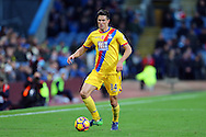 Martin Kelly of Crystal Palace in action. Premier League match, Burnley v Crystal Palace at Turf Moor in Burnley , Lancs on Saturday 5th November 2016.<br /> pic by Chris Stading, Andrew Orchard sports photography.
