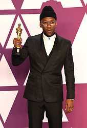 """Mahershala Ali, winner of the Best Actor In A Supporting Role Award for """"Green Book"""" at the 91st Annual Academy Awards (Oscars) presented by the Academy of Motion Picture Arts and Sciences.<br /> (Hollywood, CA, USA)"""
